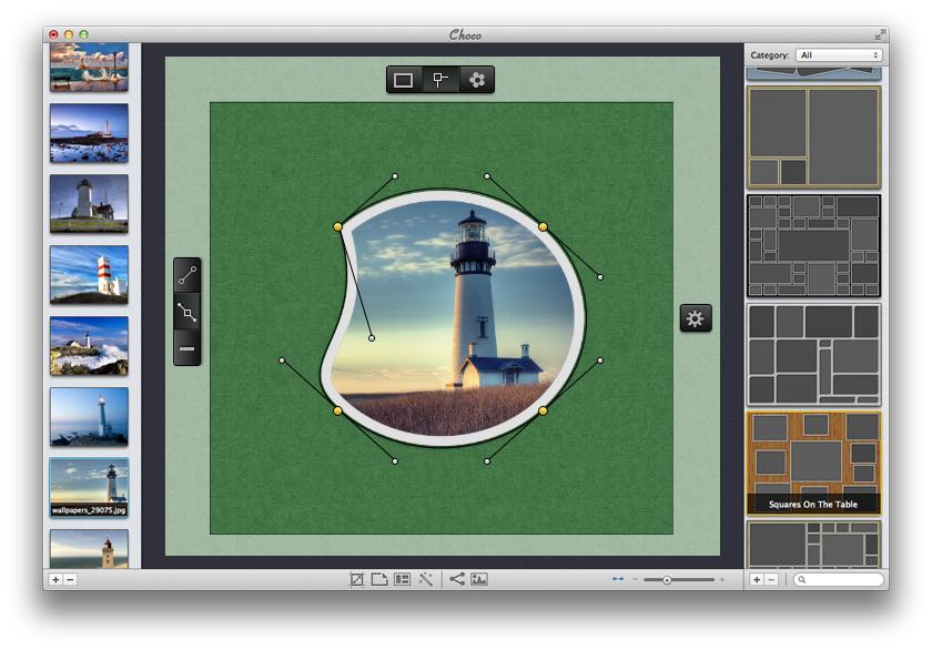 Freeform frame editor