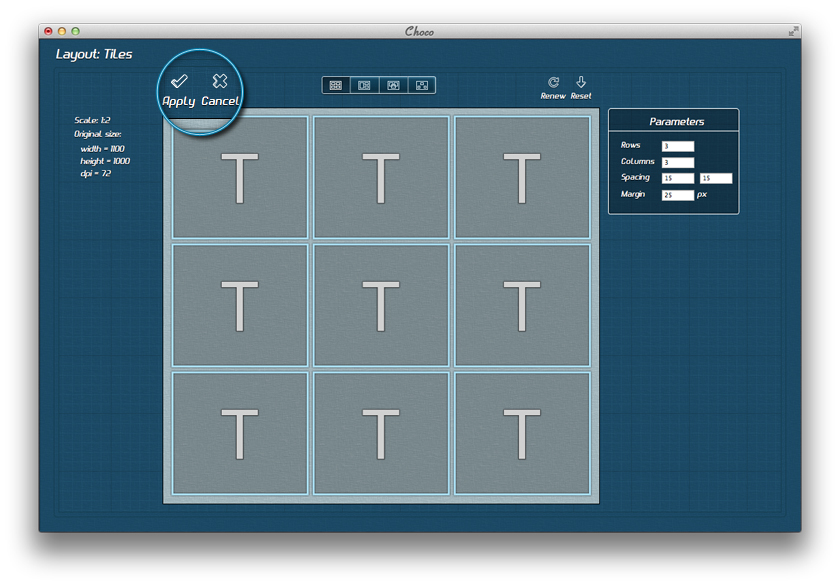 Tiled layout generator